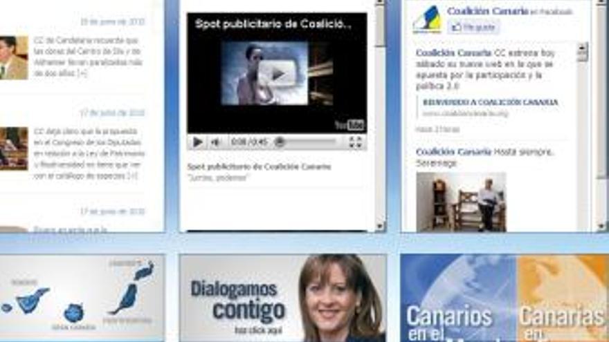 Nueva página web de Coalición Canaria. (CANARIAS AHORA)