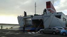 Imagen de archivo del buque 'Albayzin' en el Puerto de Santa Cruz de La Palma.