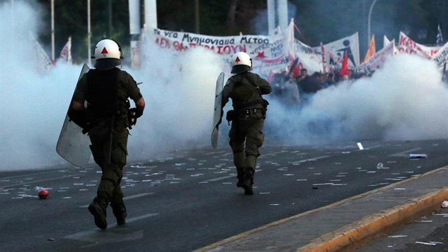 Dos detenidos tras los disturbios en las protestas contra la reforma de las pensiones