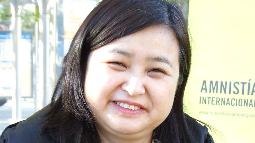 Li Jianhong, escritora independiente china crítica con el Gobierno actualmente refugiada en Suecia./ Foto: amnistía Internacional
