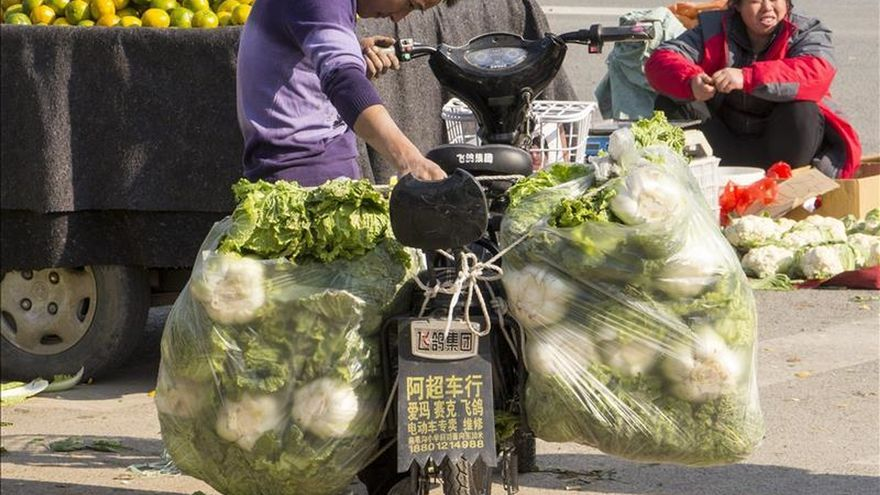 La inflación china sube dos décimas y se sitúa en el 1,5 % en noviembre