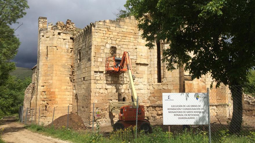 Obras en el Monasterio de Bonaval, en Retiendas (Guadalajara)