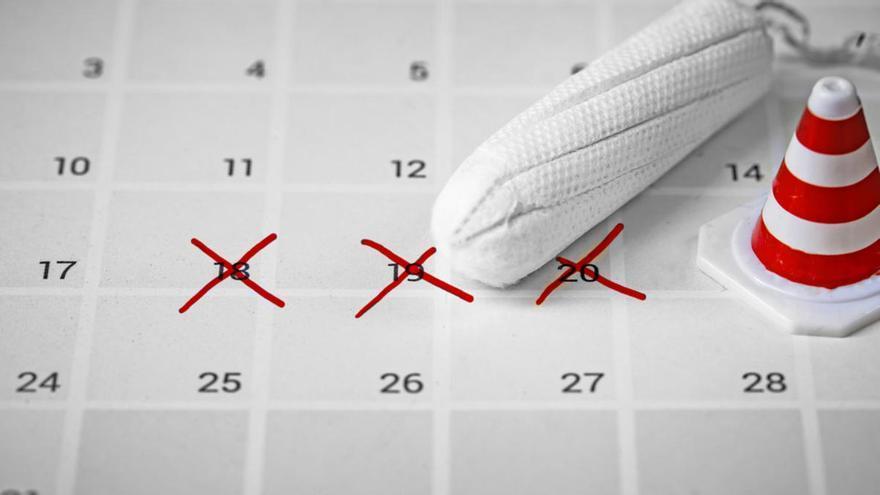 La duración del ciclo menstrual puede variar entre los 24 y los 38 días, según la OMS
