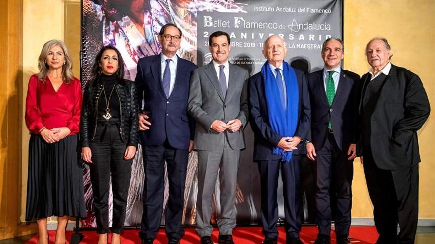 """""""Nostalgia y homenaje"""" en el 25 aniversario del Ballet Flamenco de Andalucía"""