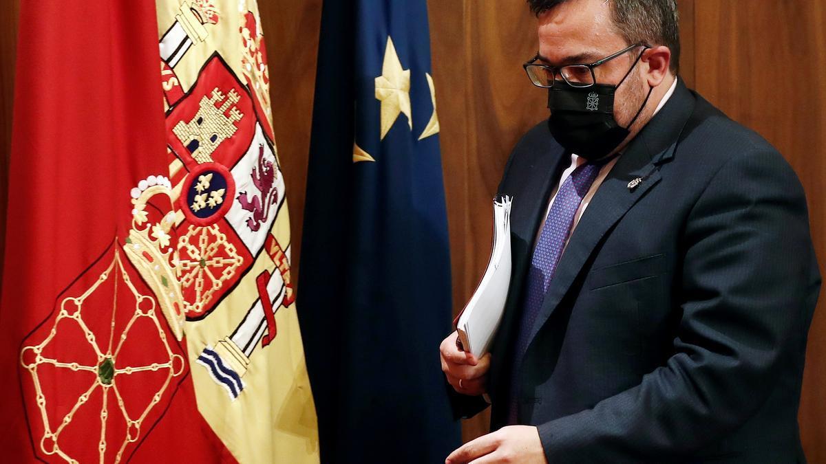 El vicepresidente y portavoz del Ejecutivo navarro, Javier Remírez. EFE/ Jesús Diges