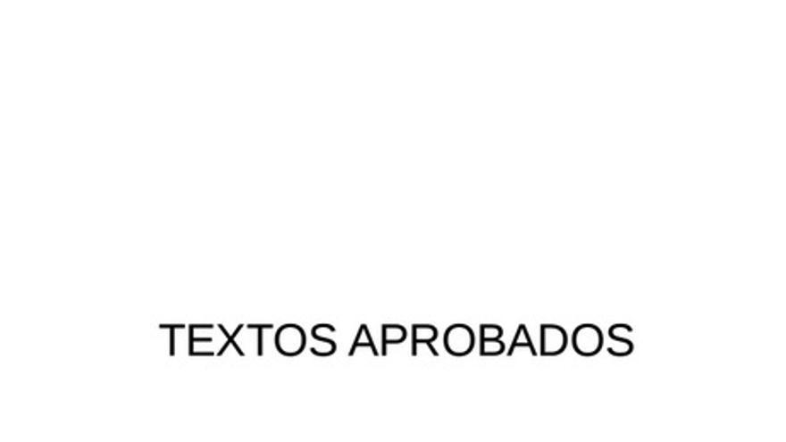 Textos aprobados Eurocámara