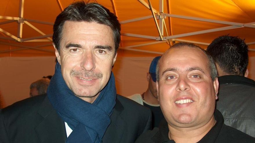 Enrique Magdalena junto a José Manuel Soria / Foto: cedida