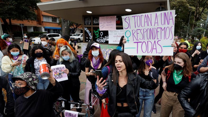 Los manifestantes en Colombia señalan a la Policía por violencia sexual