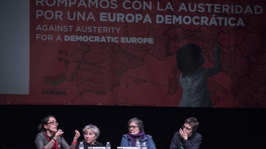Momento del foro Crisis, ajustes y alternativas feministas / Olmo Calvo