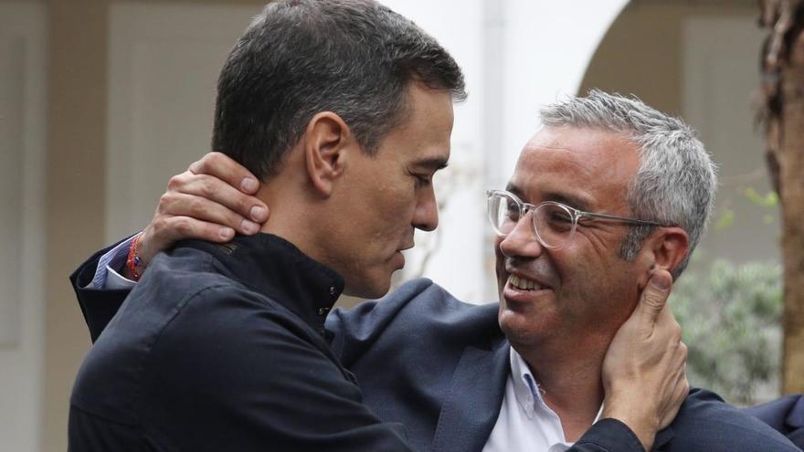 Sergio Matos con Pedro Sánchez.