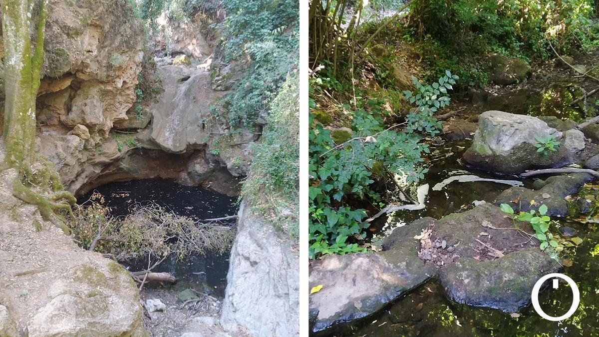 Aguas residuales en los Baños de Popea