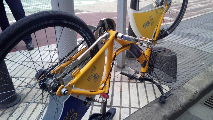 Bicicleta robada del servicio ByBike LPA