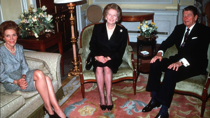 Margaret Thatcher, con Ronald y Nancy Reagan, en diciembre de 1980. / Alpha / Globe Photos / ZUMAPRESS.com
