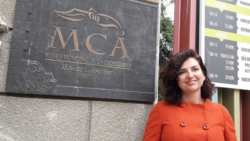 Orlena de Miguel (Ciudadanos) en el Museo de Cuchillería de Albacete