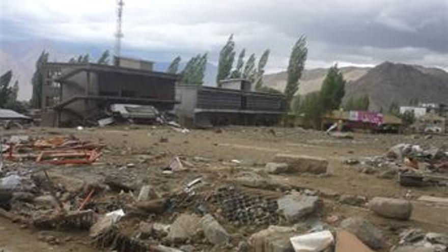Ciudad de Leh, inundaciones en India