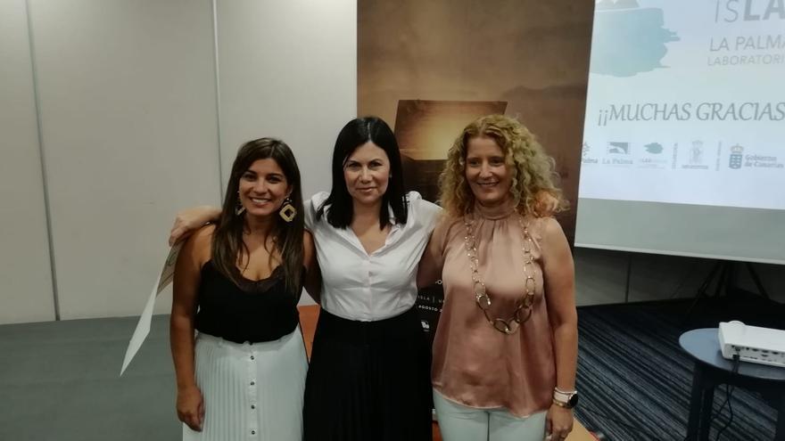 María José Manso, Mar Franco y Raquel Díaz.