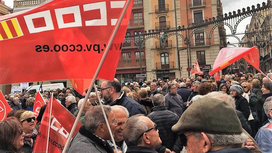 Una de les concentracions per unas pensions dignes que s'han celebrat a la Comunitat Valenciana