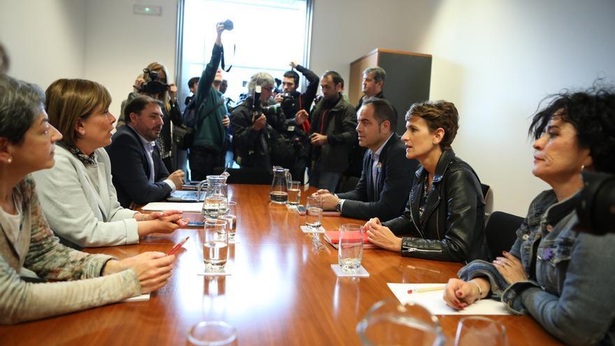 Reunión bilateral entre el PSN y Geroa Bai.