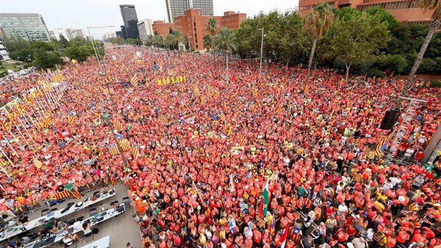 Manifestación de la Diada en 2018.