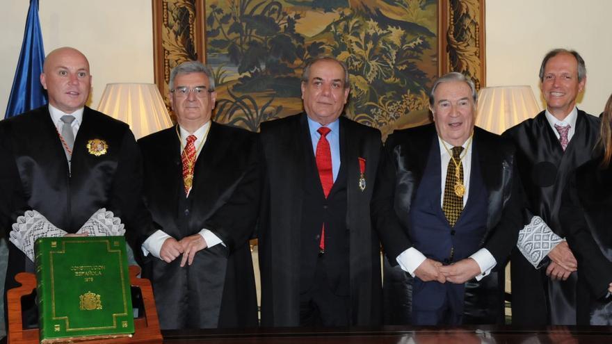 Un momento del acto celebrado en el Salón Noble del Palacio Salazar.