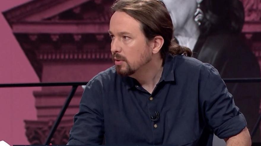 Pablo Iglesias, durante la entrevista de este viernes en La Sexta