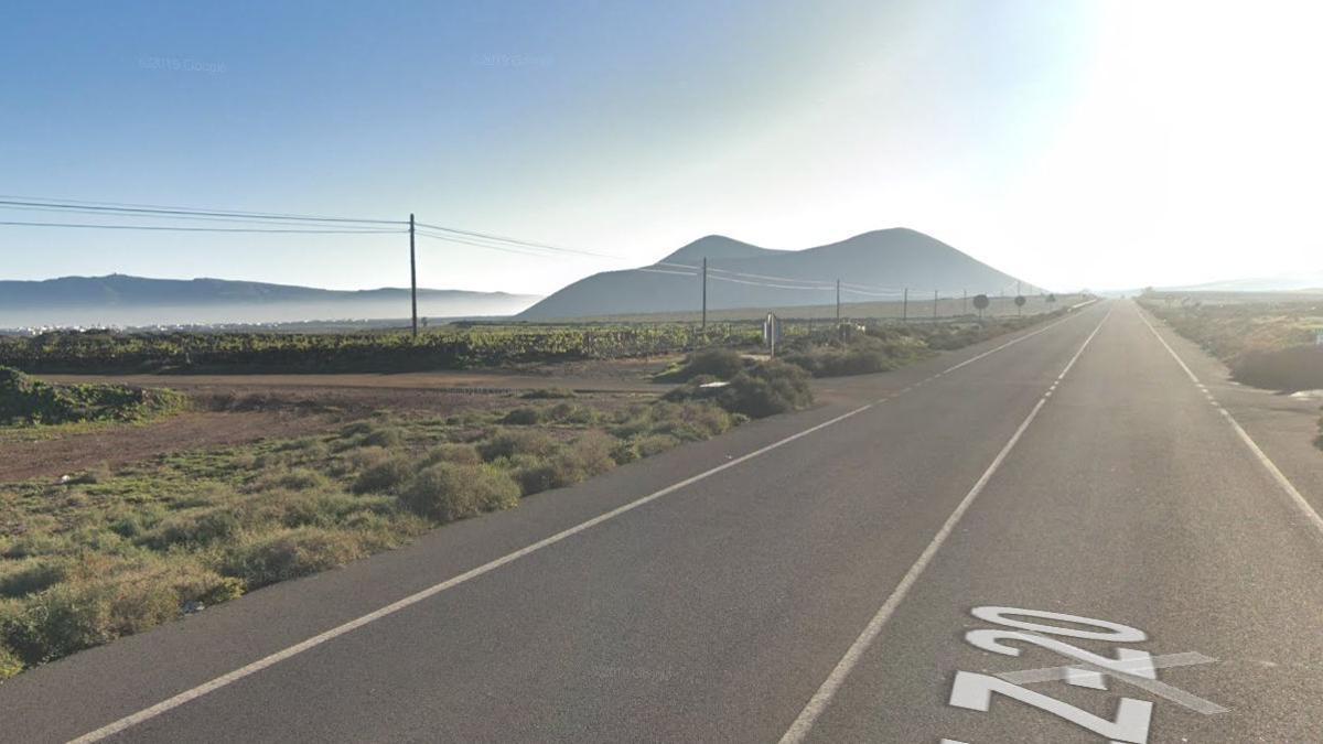 Carretera LZ-20, en Lanzarote, donde se produjo esta infracción de tráfico