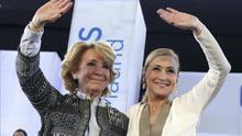 Aguirre y Cifuentes, durante un acto del PP.