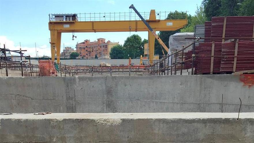 Restos de una fortaleza militar de la Roma antigua emergen en obras del metro
