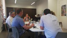 La consellera Mireia Mollá durante la reunión con el comité de empresa de Egevasa