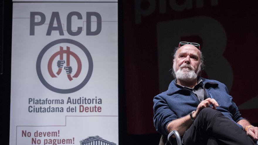 Éric Toussaint, del Comité para la Anulación de la Deuda del Tercer Mundo, en las jornadas del 'Plan B' celebradas en Madrid este 20 de febrero.