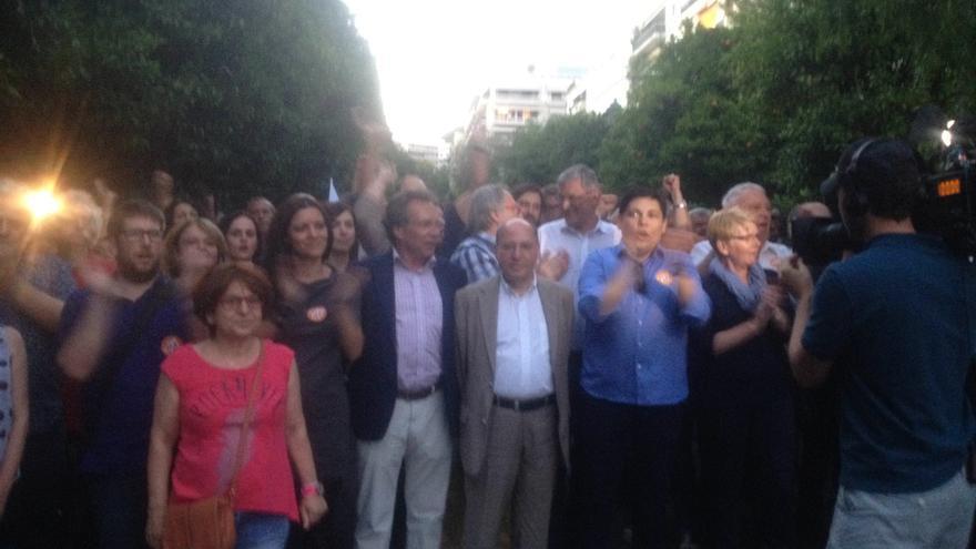 Delegación internacional de partidos de las izquierdas europeas. / Andrés Gil