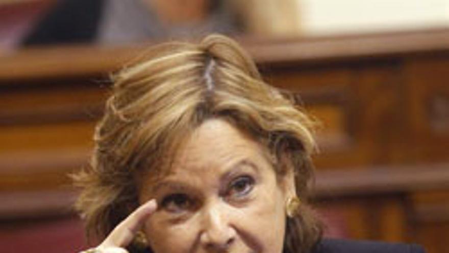 Francisca Luengo, este martes, en sesión parlamentaria. (EFE/Cristóbal García)
