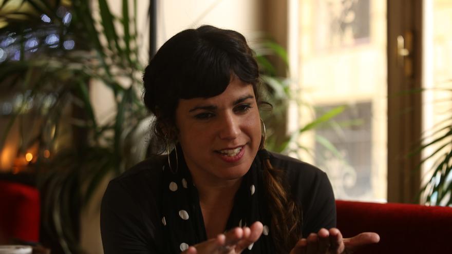 Teresa Rodríguez durante la entrevista con eldiario.es
