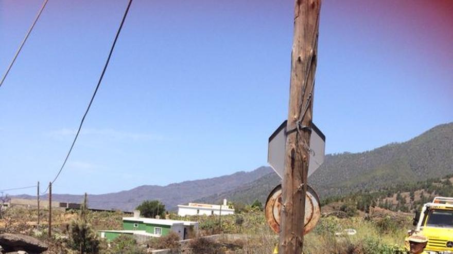 En la imagen, parte del área afectada por el conato de incendio.