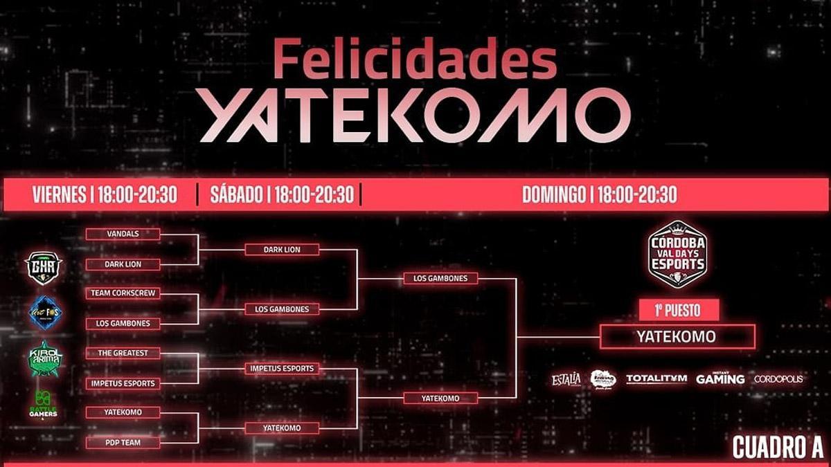 Cartel del final de Córdoba Val Days eSports