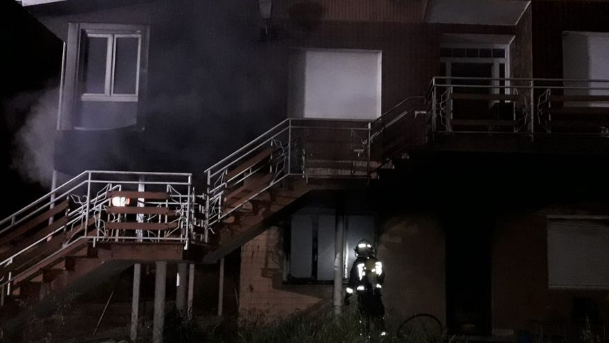 Incendio de la vivienda de Sarón