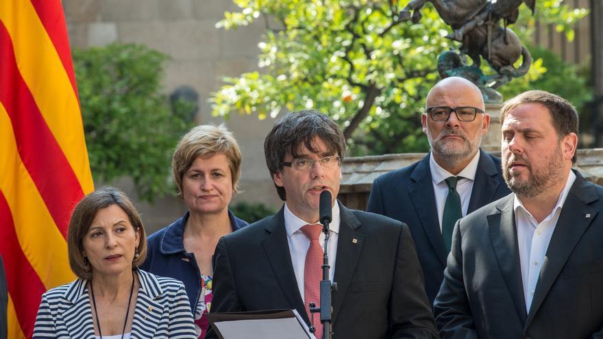 Carles Puigdemont al anunciar fecha y pregunta del referéndum