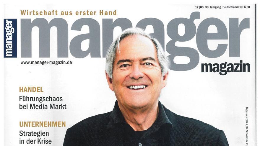 """Portada de la revista Manager Magazin en el que nombran a Roland Berger como """"el consultor de la República""""."""