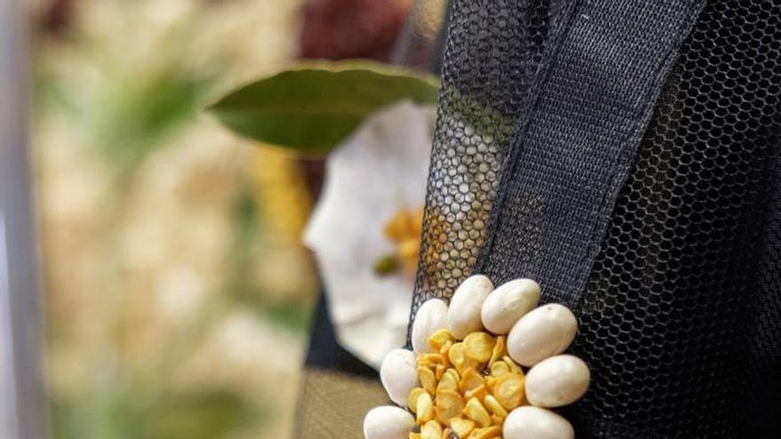 Productos de la huerta riojana recrean trajes de fiesta de Óscar de la Renta
