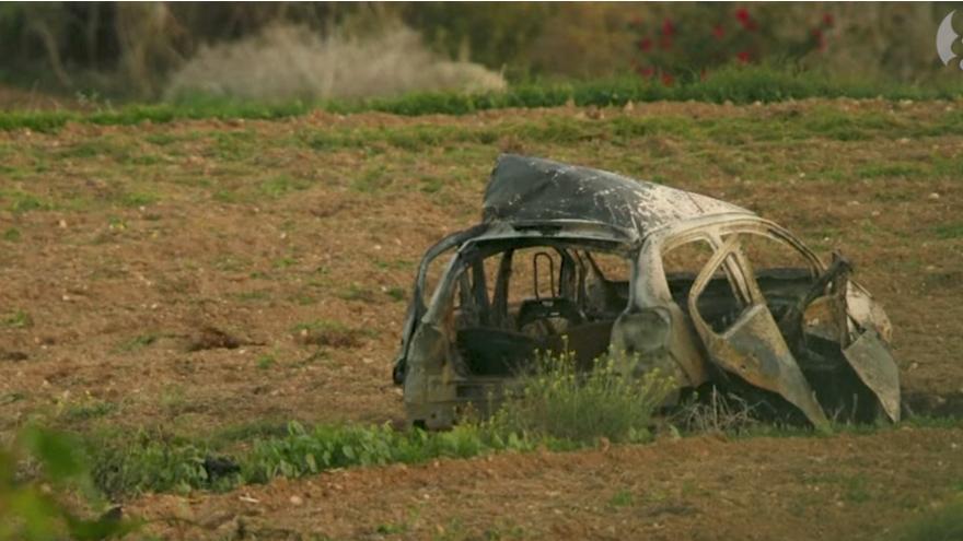 El coche de la periodista asesinada en Malta