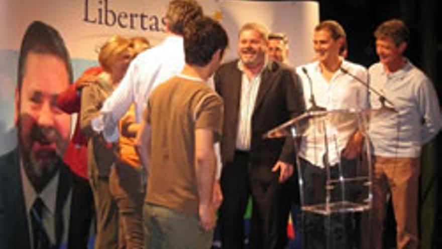 Acto de inicio de campaña, con Albert Rivera, Miguel Durán y José Manuel Villegas