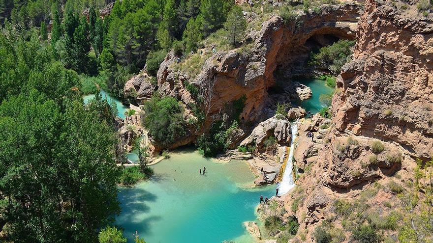 Las espectaculares Chorreras del Cabriel, en Cuenca