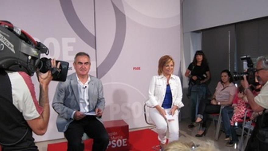 Elena Valenciano En Un Acto De Igualdad En El PSOE De Murcia Junto A Tovar