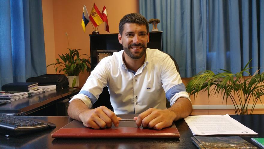 Daniel Rodríguez es teniente de alcalde del Ayuntamiento de Breña Alta. Foto: LUZ RODRÍGUEZ.