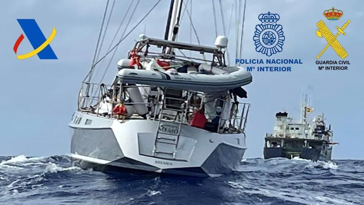 El velero Nemo, interceptado con más de una tonelada de coca a bordo