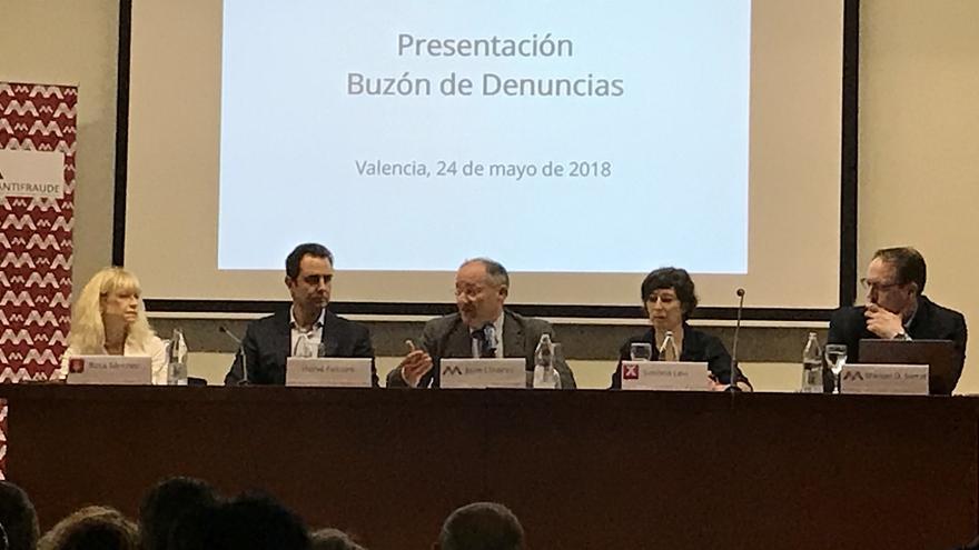 Presentación del nuevo buzón de denuncias de la Agencia Valenciana Antifraude.