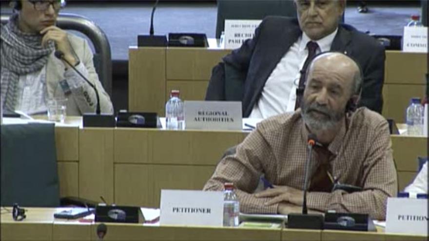 Santiago Pérez durante su comparecencia en la Comisión Europea