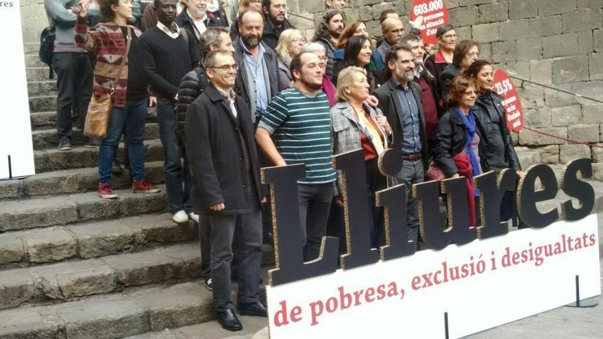 Els promotors del fons Lliures, contra la pobresa, la exclusió i la desigualtat