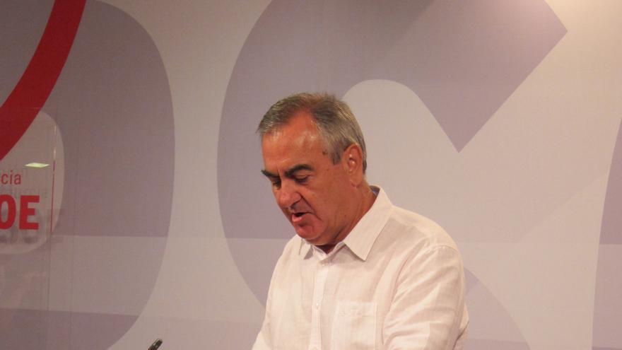 PSOE vaticina un recorte en el presupuesto de Murcia de 1.500 millones por pedir el rescate y pide explicaciones