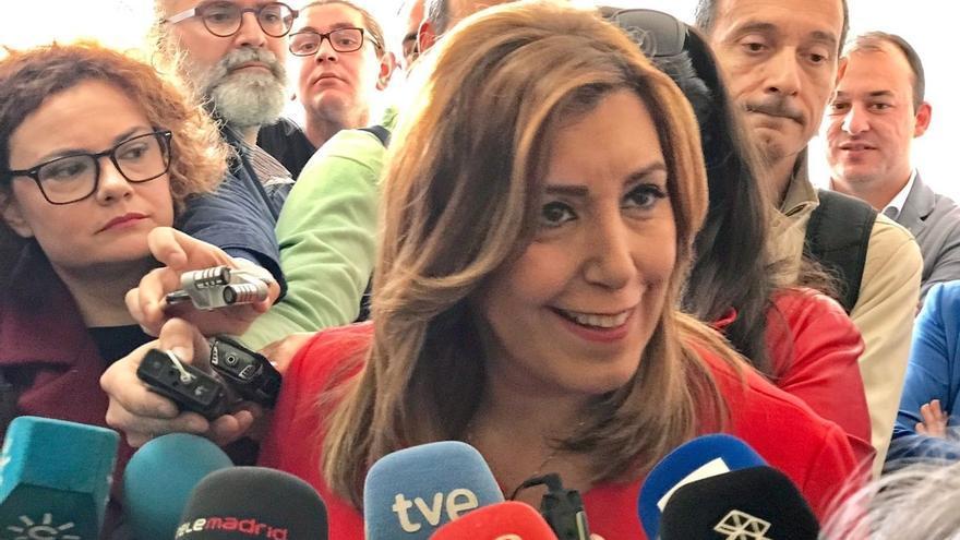 """Susana Díaz: """"seguro que Gómez de Celis está trabajando en la Agencia de Puertos y no dedicado a cuestiones de partido"""""""